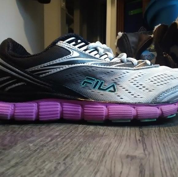 Fila running shoes.
